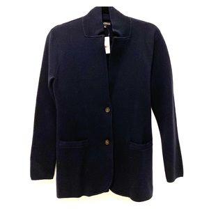 J Crew Mercantile Sweater Blazer buttons, Navy SM